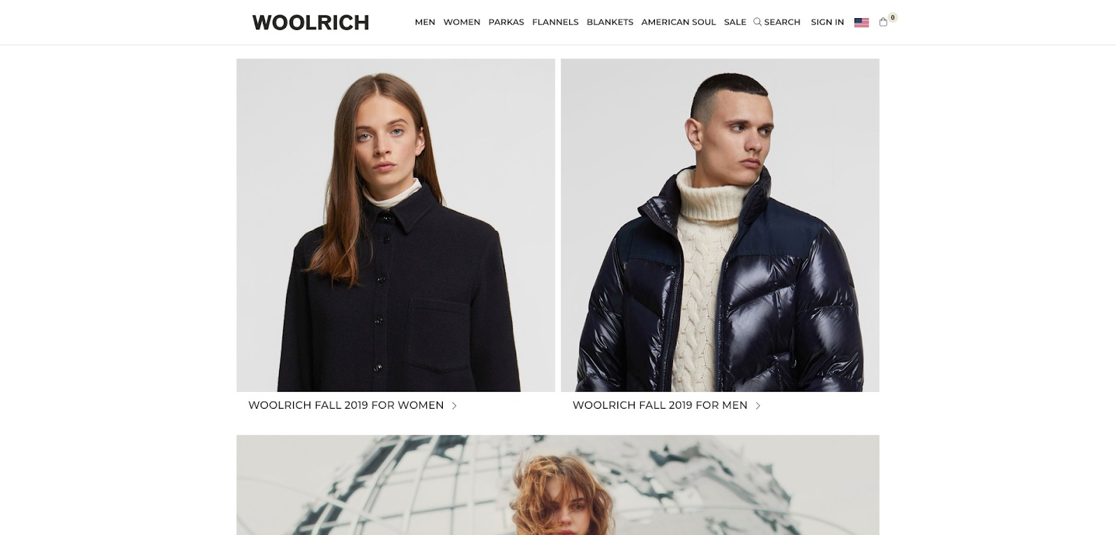 Homepage di Woolrich