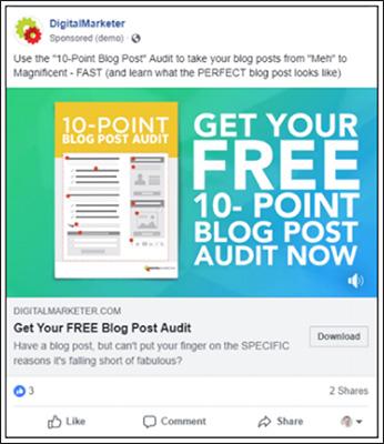 Piombo magnete che offre un audit post gratuito sul blog