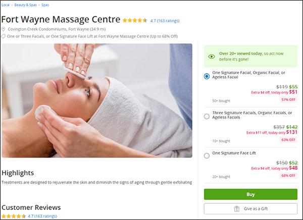 Groupon per servizio di massaggi scontato