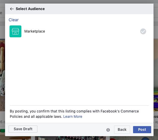 Selezione del pubblico del Marketplace di Facebook