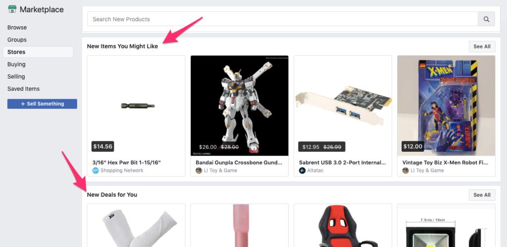 Consigli sul marketplace di Facebook
