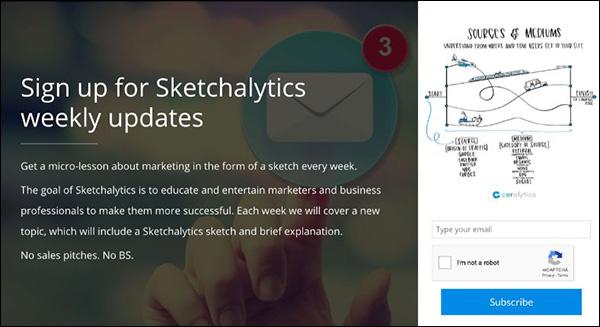 Newsletter via e-mail di Sketchalytics