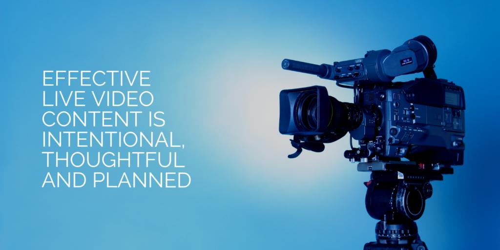 Efficace contenuto di video in diretta