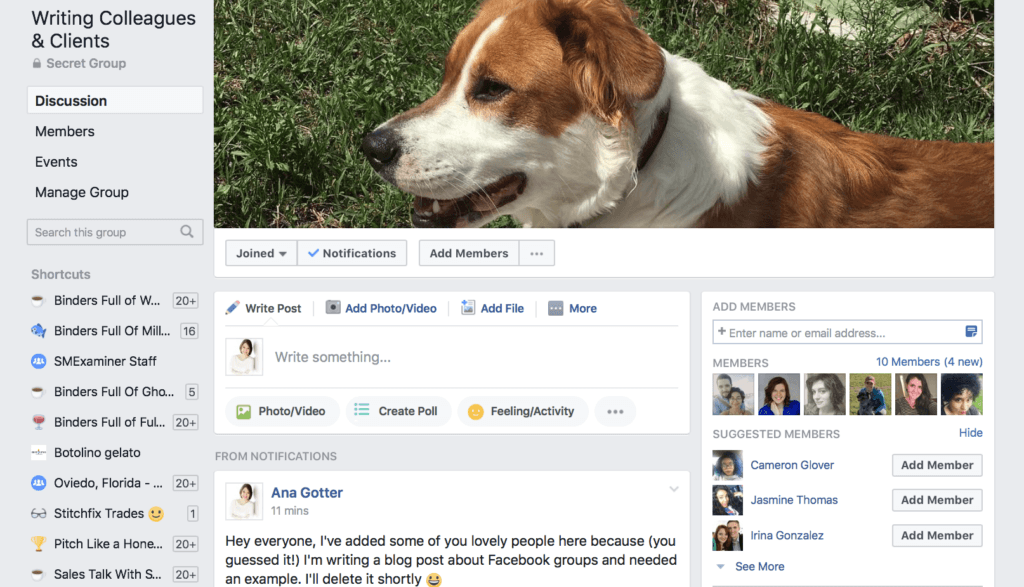 Utilizzo di gruppi di Facebook per le imprese