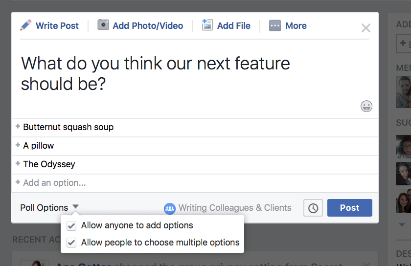 using Facebook groups for marketing