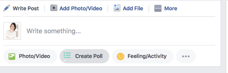 how to make a Facebook poll