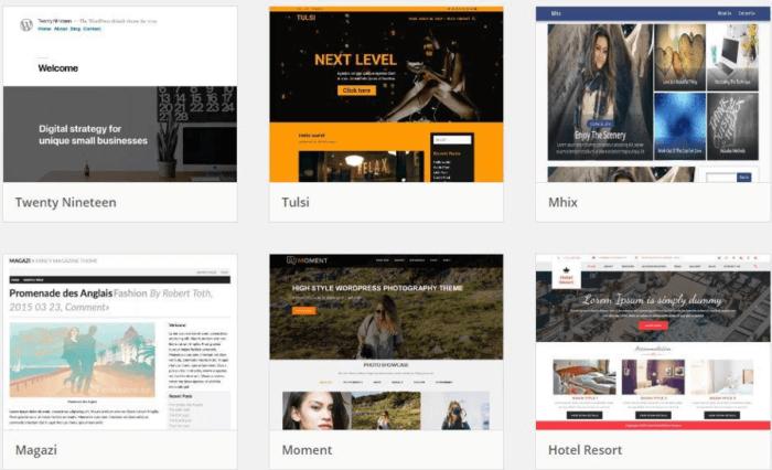 Personalizzazione dei temi di WordPress