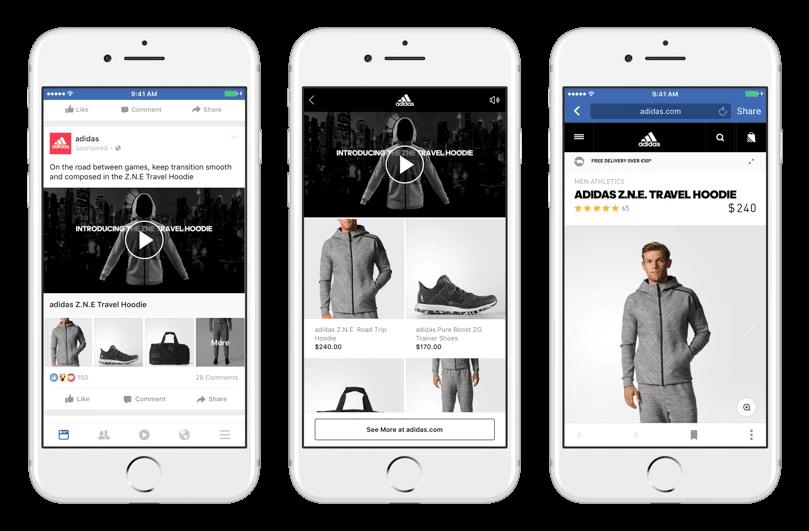 Annuncio della collezione Facebook di Adidas