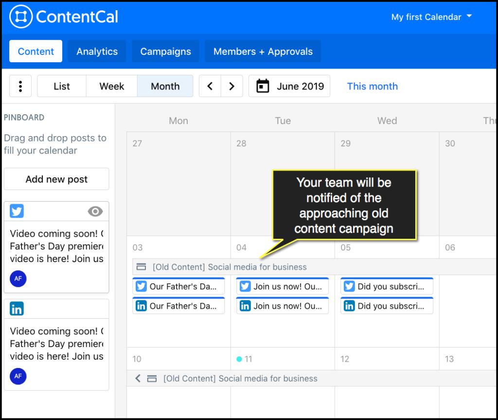 calendario contentcal
