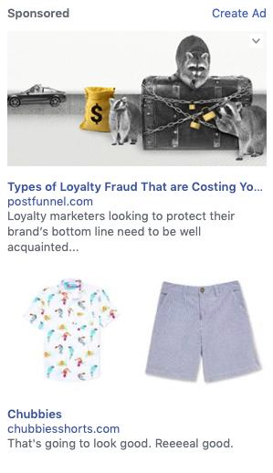 Dimensioni immagine annuncio Facebook colonna destra