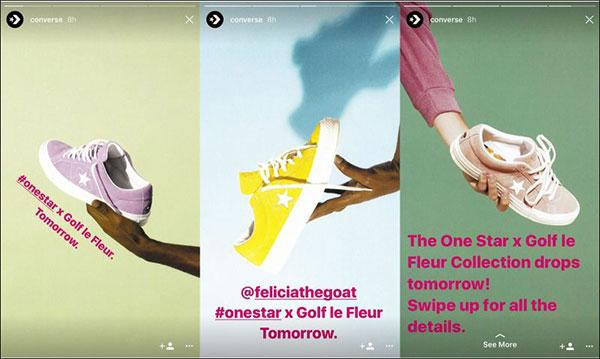L'ultima di queste tre storie di Converse Instagram ha un