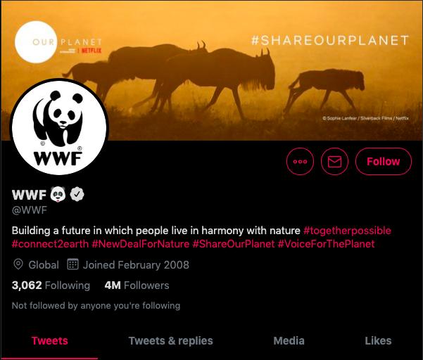 World Wildlife Fund Twitter