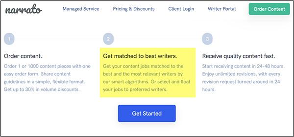 Narrato è un'intelligenza artificiale che aiuterà gli esperti di marketing a trovare buoni scrittori di contenuti per le loro esigenze