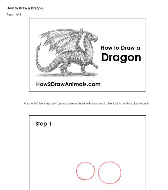 Come disegnare un esempio di drago