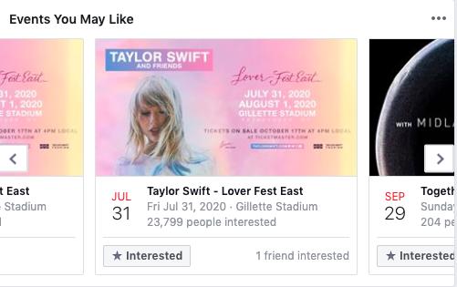Eventi che potrebbero piacerti su Facebook