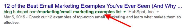Link ai risultati del motore di ricerca con un URL ottimizzato per parole chiave