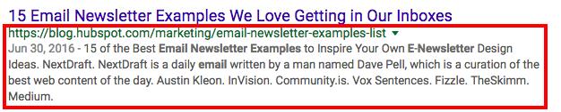 Link ai risultati di Google con meta descrizione estesa