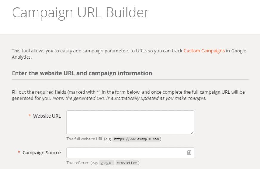 Generatore di URL campagna