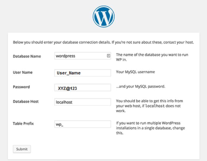 Modifica del prefisso del database