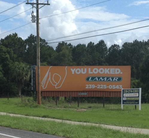 cartellone pubblicitario lamar