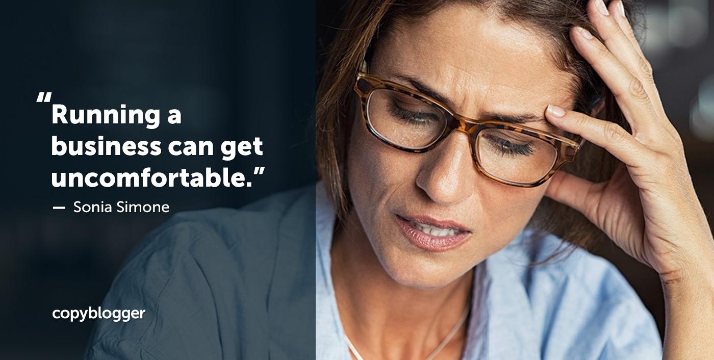 Gestire un'azienda può essere scomodo. - Sonia Simone