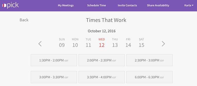 """seleziona l'app per riunioni che evidenzia i tempi che funzionano per l'utente """"title ="""" pick-meeting-app.png """"style ="""" display: block; margine sinistro: auto; margine destro: auto;"""