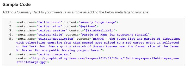 """Codice di esempio per """"Scheda riepilogativa con immagine grande"""""""