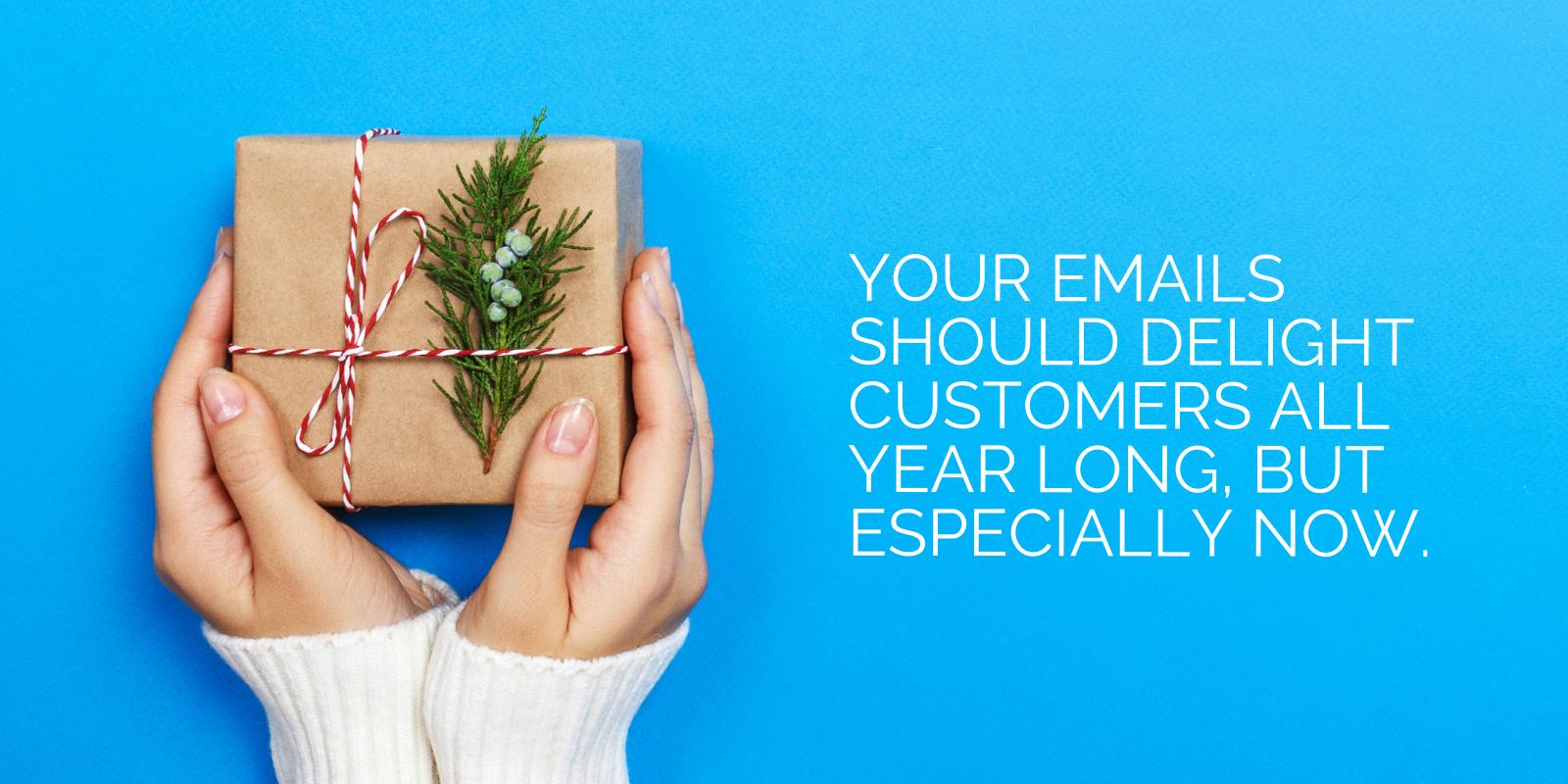 Suggerimento per la promozione delle vacanze per e-mail