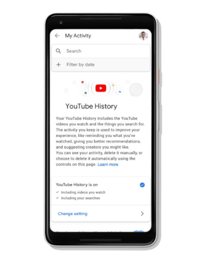 Elimina la cronologia di YouTube
