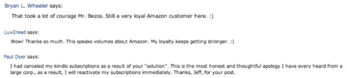 Risposta alle scuse di Jeff Bezos