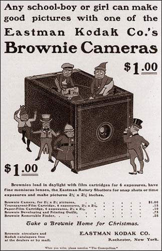 Annuncio del vecchio brownie di Kodak