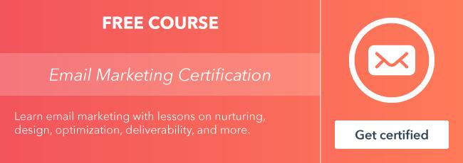 Inizia il corso gratuito di certificazione e-mail marketing da HubSpot Academy.