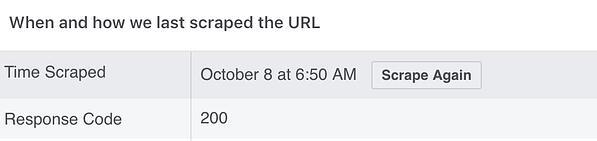 """Lo strumento debugger di Facebook mostra a che ora è stato eseguito il raschiamento di un URL. """"Width ="""" 600 """"style ="""" width: 600px; blocco di visualizzazione; margine: 0px auto; """"srcset ="""" https://blog.hubspot.com/hs-fs/hubfs/HubSpots%205-Step%20Process%20to%20Fix%20Images%20With%20Facebook%20Debugger.jpeg?width=300&name = HubSpots% 205-Step% 20Process% 20to% 20Fix% 20Images% 20With% 20Facebook% 20Debugger.jpeg 300w, https://blog.hubspot.com/hs-fs/hubfs/HubSpots%205-Step%20Process%20to% 20Fix% 20Images% 20With% 20Facebook% 20Debugger.jpeg? Width = 600 & name = HubSpots% 205-Step% 20Process% 20to% 20Fix% 20Images% 20With% 20Facebook% 20Debugger.jpeg 600w, https://blog.hubspot.com/hs -fs / hubfs / HubSpots% 205-step% 20Process% 20to% 20Fix% 20Images% 20With% 20Facebook% 20Debugger.jpeg? width = 900 & name = HubSpots% 205-step% 20Process% 20to% 20Fix% 20Images% 20With% 20Facebook% 20Debugger .jpeg 900w, https://blog.hubspot.com/hs-fs/hubfs/HubSpots%205-Step%20Process%20to%20Fix%20Images%20With%20Facebook%20Debugger.jpeg?width=1200&name=HubSpots%205- Passaggio% 20 Elaborazione% 20to% 20 Correzione% 20 Immagini% 20 Con% 20Facebook% 20Debugger.jpeg 1200w, https://blog.hubspot.com/hs-fs/hubfs/HubSpots%205-Step%20Process%20to%20Fix%20Image s% 20Con% 20Facebook% 20Debugger.jpeg? width = 1500 & name = HubSpots% 205-Step% 20Process% 20to% 20Fix% 20Images% 20With% 20Facebook% 20Debugger.jpeg 1500w, https://blog.hubspot.com/hs-fs /hubfs/HubSpots%205-Step%20Process%20to%20Fix%20Images%20With%20Facebook%20Debugger.jpeg?width=1800&name=HubSpots%205-Step%20Process%20to%20Fix%20Images%20With%20Facebook%20Debugger.jpeg 1800w """"size ="""" (larghezza massima: 600px) 100vw, 600px"""