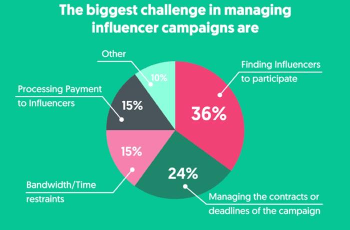 maggiori sfide nella gestione delle campagne di influencer