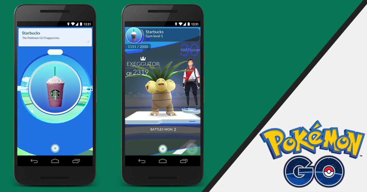 Pokemon Go e Starbucks partnership