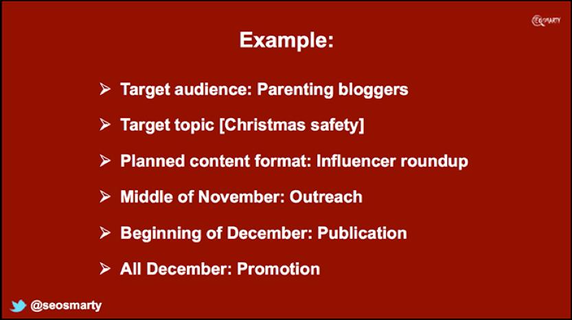 Campagna di contenuti stagionali
