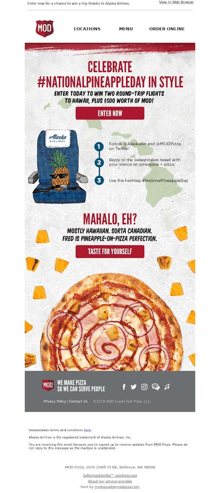 Esempio di Pizza Mod