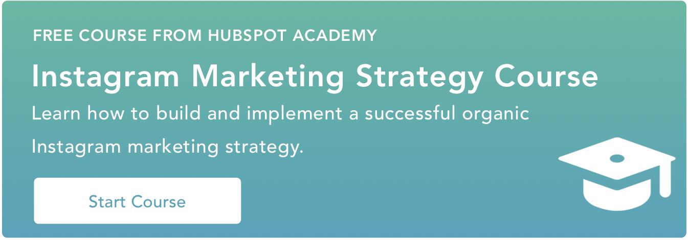 corso di strategia di marketing instagram hubspot academy
