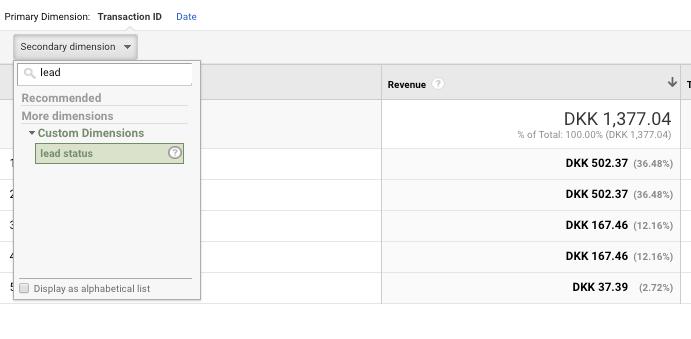 """esempio di dimensione personalizzata in Google Analytics. """"width ="""" 691 """"height ="""" 339"""