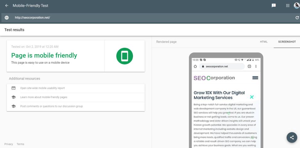 "Test per funzionalità ottimizzate per dispositivi mobili ""width ="" 974 ""height ="" 481 ""srcset ="" https://www.smartinsights.com/wp-content/uploads/2019/10/Testing-for-mobile-friendly-features. png 974w, https://www.smartinsights.com/wp-content/uploads/2019/10/Testing-for-mobile-friendly-features-150x74.png 150w, https://www.smartinsights.com/wp- content / uploads / 2019/10 / Testing-for-mobile-friendly-features-550x272.png 550w, https://www.smartinsights.com/wp-content/uploads/2019/10/Testing-for-mobile-friendly -features-768x379.png 768w, https://www.smartinsights.com/wp-content/uploads/2019/10/Testing-for-mobile-friendly-features-700x346.png 700w, https: //www.smartinsights .com / wp-content / uploads / 2019/10 / Testing-for-mobile-friendly-features-250x123.png 250w ""size ="" (larghezza massima: 974px) 100vw, 974px"