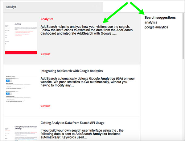 AddSearch per l'ottimizzazione del contenuto della ricerca nel sito Web