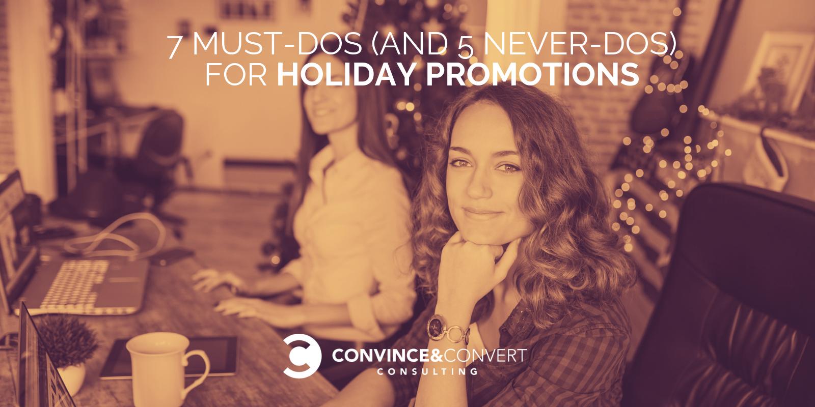 7 Must-Dos (e 5 Never-Dos) per le promozioni delle vacanze