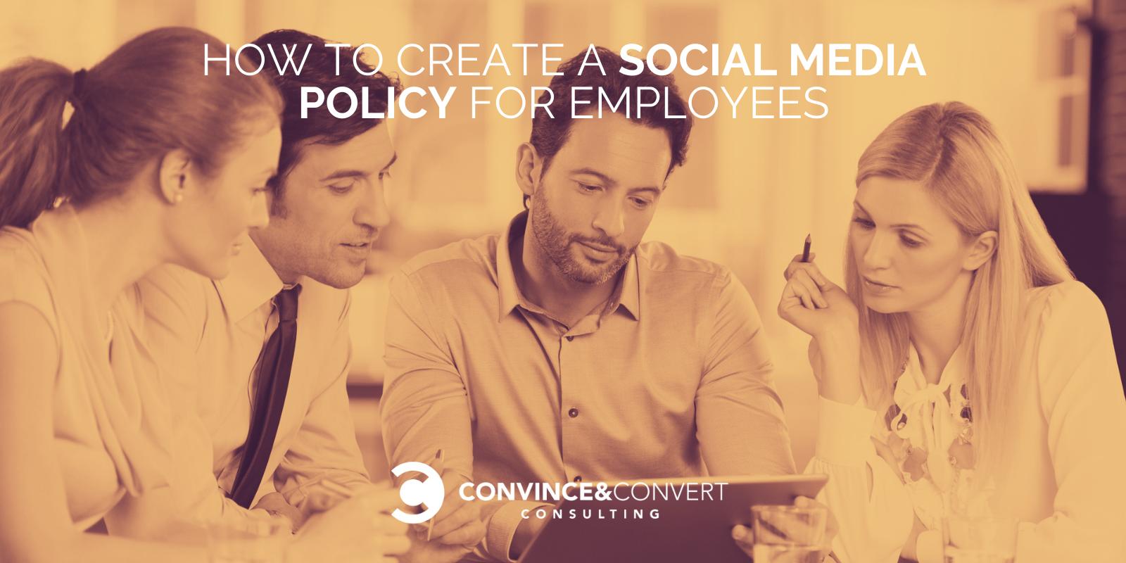 Come creare una politica sui social media