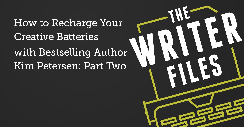 Come ricaricare le batterie creative con l'autore di best seller Kim Petersen: seconda parte