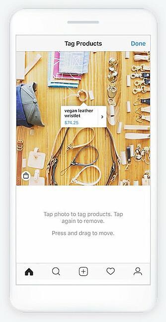 Un esempio del tagging del prodotto su Instagram