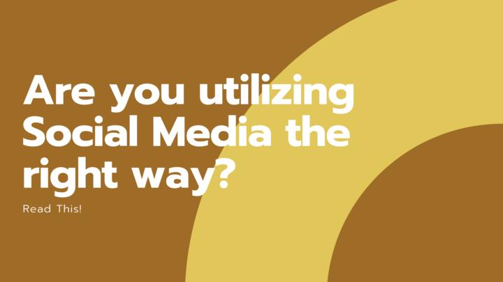 Stai usando i social media nel modo giusto? Leggi questo!