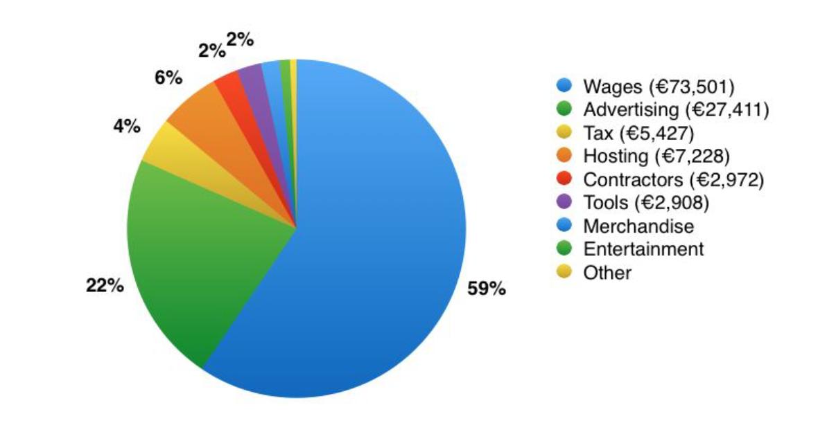 suddivisione hotjar delle spese del primo anno.