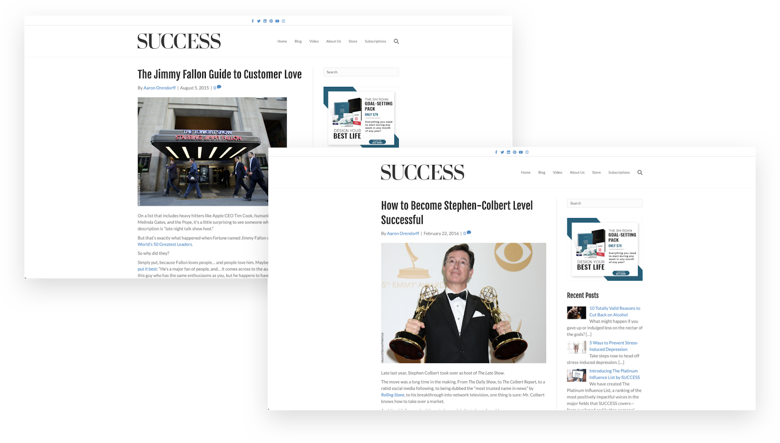 Messaggi degli ospiti di Aaron Orendorff sulla rivista Success