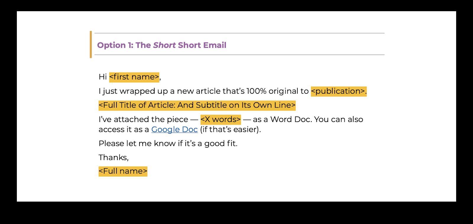 Modello di email breve per la presentazione degli ospiti agli editori