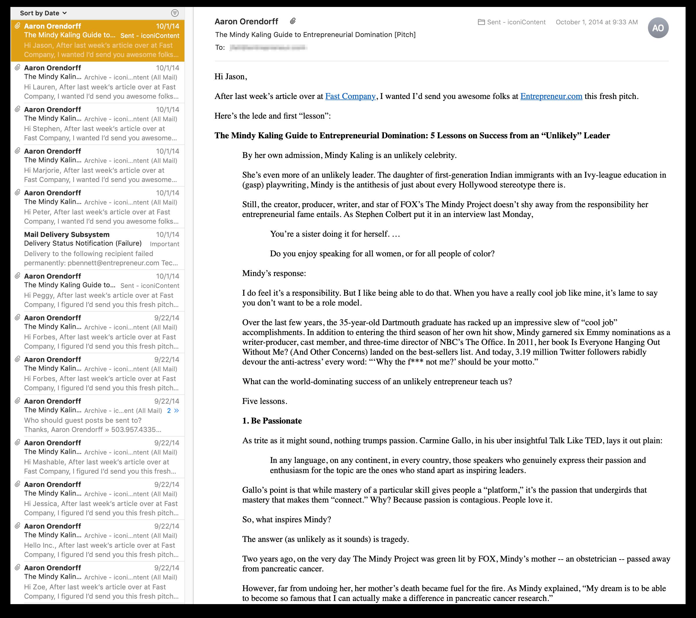 """Cronologia e-mail delle presentazioni dei messaggi degli ospiti di Aaron Orendorff """"class ="""" wp-image-24673 """"srcset ="""" https://megamarketing.it/wp-content/uploads/2019/11/1574357916_11_Come-sfondare-come-guest-blogger-anche-se-non-sei-uno-scrittore.png 2404w, https : //copyhackers.com/wp-content/uploads/2019/11/email-example-1-150x133.png 150w, https://copyhackers.com/wp-content/uploads/2019/11/email-example- 1-300x267.png 300w, https://copyhackers.com/wp-content/uploads/2019/11/email-example-1-768x682.png 768w, https://copyhackers.com/wp-content/uploads/ 2019/11 / email-esempio-1-800x711.png 800w, https://copyhackers.com/wp-content/uploads/2019/11/email-example-1-990x880.png 990w, https: // copyhackers. com / wp-content / uploads / 2019/11 / email-example-1-1320x1173.png 1320w """"dimensioni ="""" (larghezza massima: 2404px) 100vw, 2404px"""